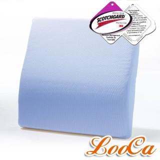 【快速到貨】LooCa吸濕排汗釋壓腰靠墊(藍色-1入)