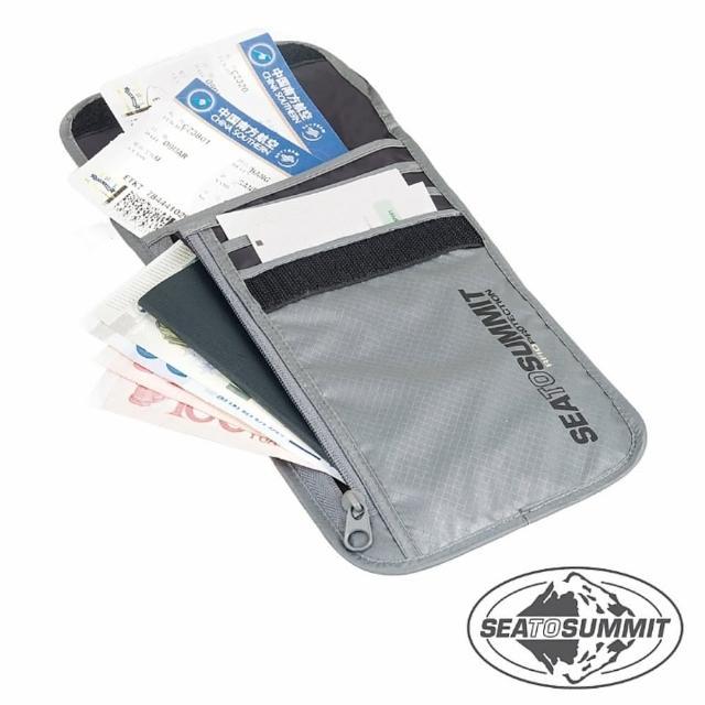 【開箱心得分享】MOMO購物網【SEATOSUMMIT】RFID旅行安全頸掛式證件袋 5隔層(灰色)好用嗎momo購物台