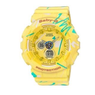 【CASIO BABY-G】流童趣塗鴉雙顯女錶(BA-120SC-9ADR)