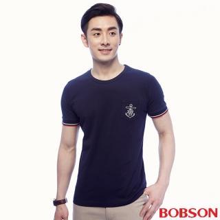 【BOBSON】男款貼口袋素面上衣(25017-53)
