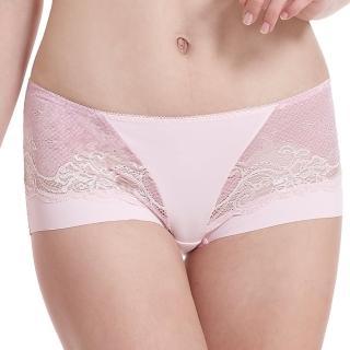 【LADY】涼感纖體美型系列 機能調整型 中腰平口褲(漾采粉)