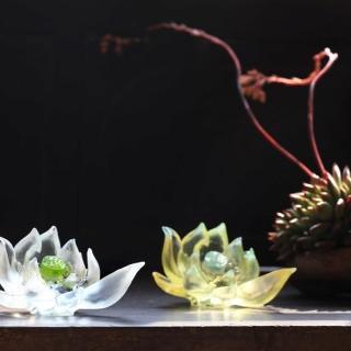 【琉璃工房LIULI】《清靜自心 》 是美麗的;必綻放系列(擺飾)