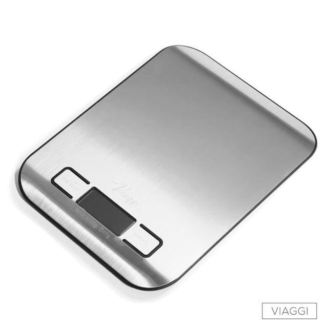 【VIAGGI】負顯示不鏽鋼電momo 優惠券子料理秤(黑色)