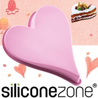 【Siliconezone】施理康耐熱愛心造型大蛋糕模(粉色)
