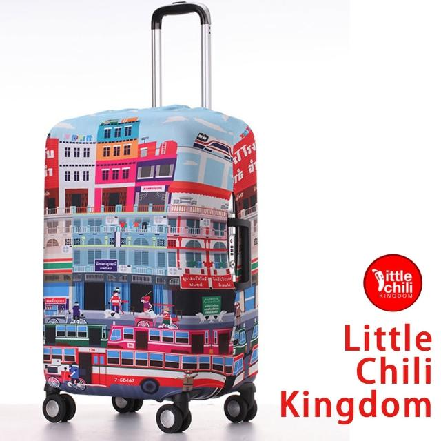 【真心勸敗】MOMO購物網【LittleChili】行李箱套套524(曼谷彩 S)評價富邦購物中心