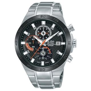 【ALBA雅柏】簡單生活夏日時尚三眼計時腕錶(42mm/VD57-X081B)