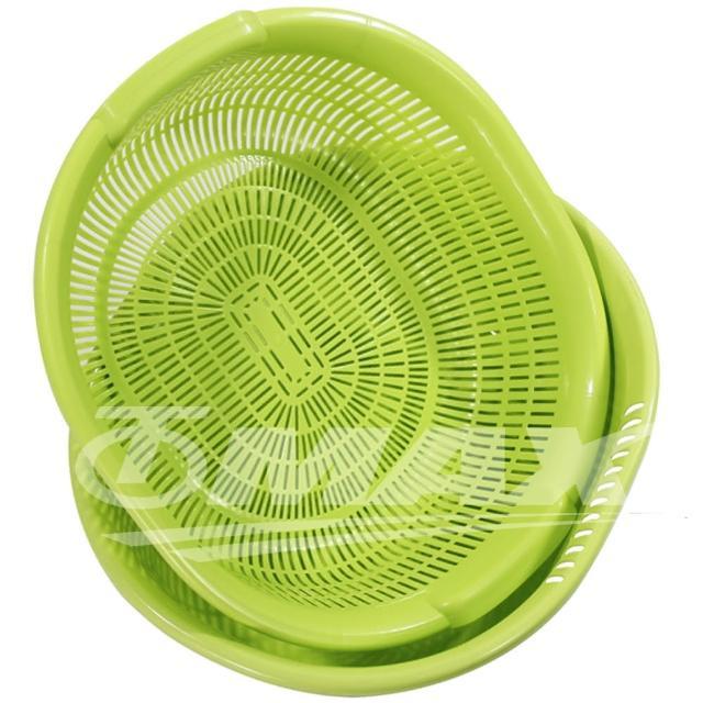 【omax】日momo購物綱製清洗超大瀝水籃-2組