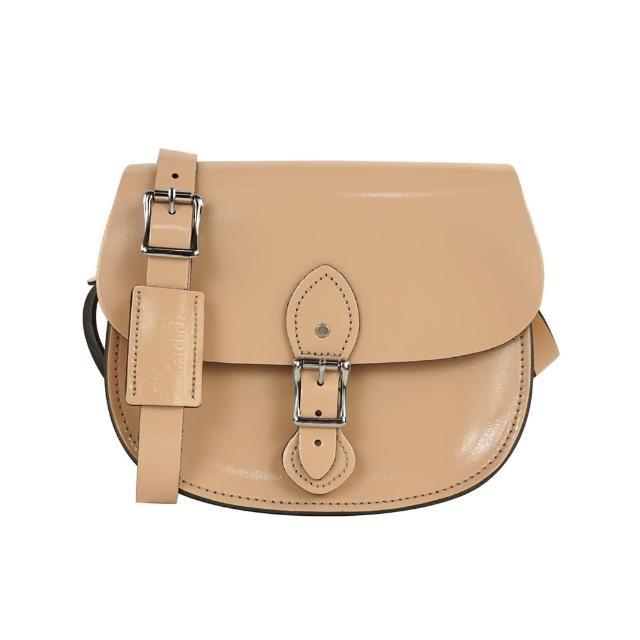 【The Leather Satcpmomohel Co.】英國原裝手工牛皮馬鞍包 肩背 側背手拿包(時尚裸)