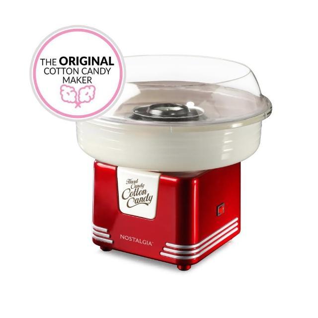 【momo電視購物電話美國NOSTALGIA】棉花糖機懷舊家電(PCM405紅色)