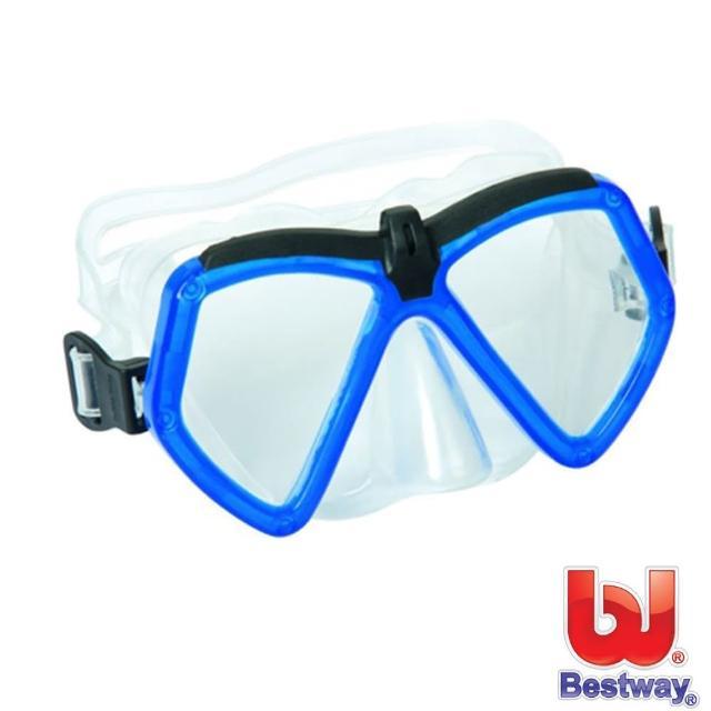 【開箱心得分享】MOMO購物網【BESTWAY】繽紛潛水鏡(藍色)哪裡買富邦購物臺