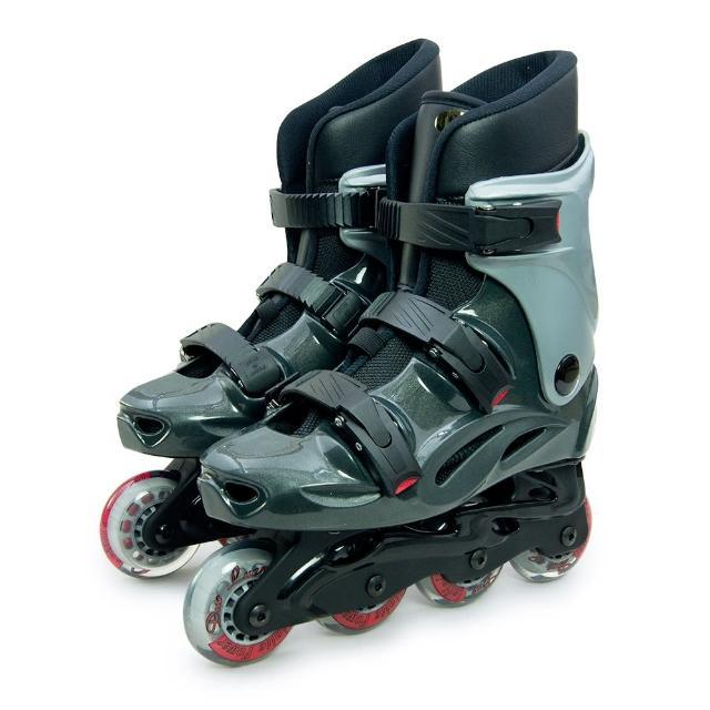 【開箱心得分享】MOMO購物網【D.L.D 多輪多】高塑鋼底座 專業直排輪 溜冰鞋(鐵灰銀 530)去哪買富邦momo購物台網站
