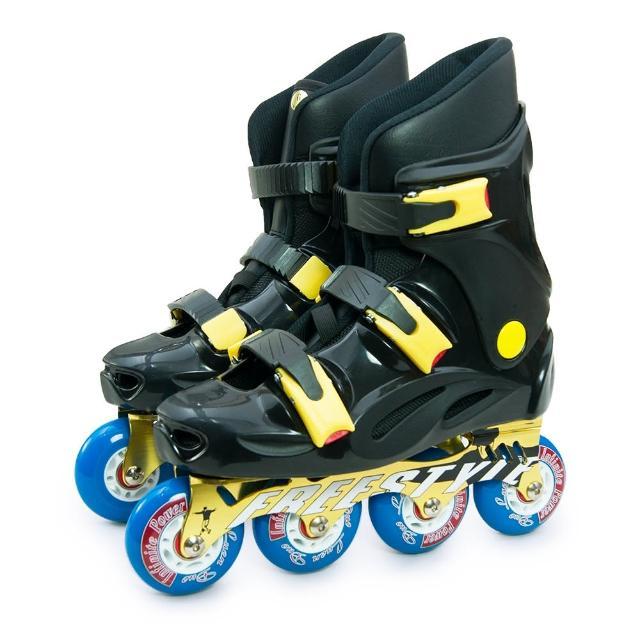 【D.L.D 多輪多】鋁合金底座 專業競速直排輪 溜冰鞋(黑黑momo購物網 折價券 FS-1)