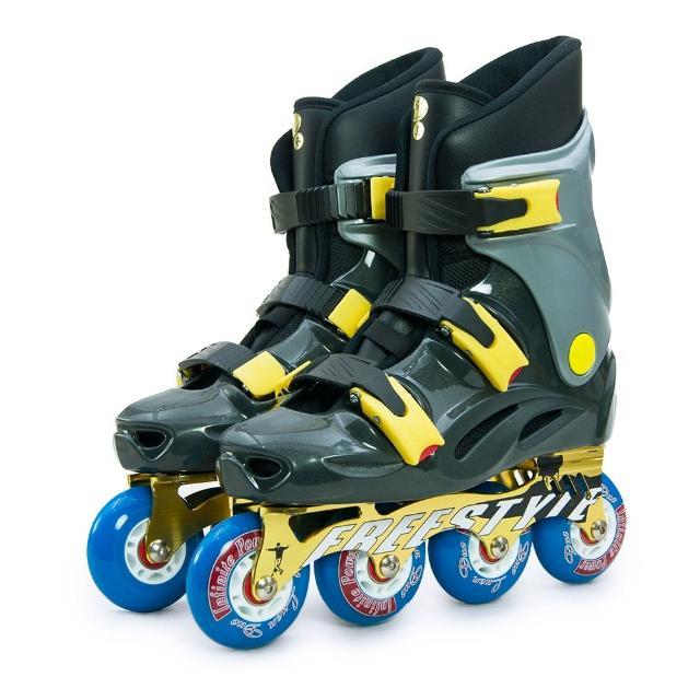 【部落客推薦】MOMO購物網【D.L.D 多輪多】鋁合金底座 專業競速直排輪 溜冰鞋(鐵灰銀 FS-1)哪裡買momo台電話