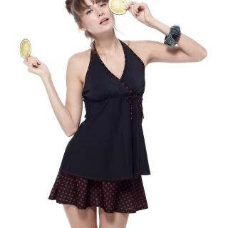 【沙兒斯】圓點裙褲兩件式女泳裝(B92645)