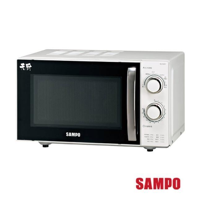 【聲寶SAMPO】20L定時無轉盤機械式微波爐 RE-P201momo東森購物R(微波爐)