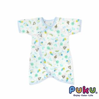 【PUKU藍色企鵝】印花紗布蝴蝶裝60cm(水色)