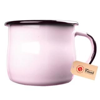 【Emalia Olkusz】琺瑯杯 350ml(粉紅)