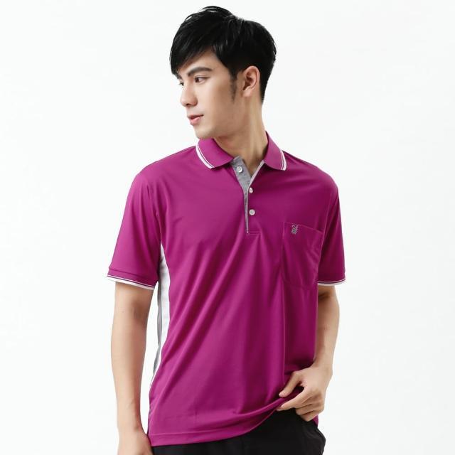 【勸敗】MOMO購物網【遊遍天下】台灣製情人款顯瘦抗UV吸濕排汗機能POLO衫紫紅(M-3L)價格momo jb