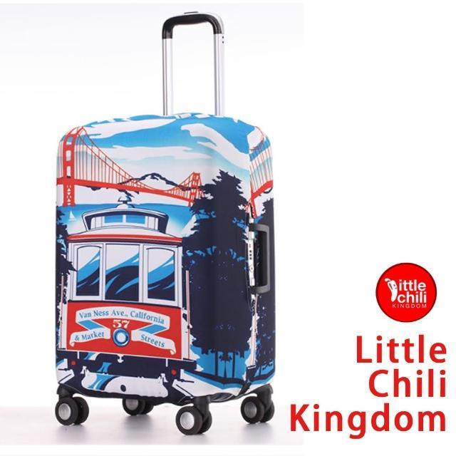 【好物推薦】MOMO購物網【LittleChili】行李箱套套526(加州S)價錢富邦科技有限公司