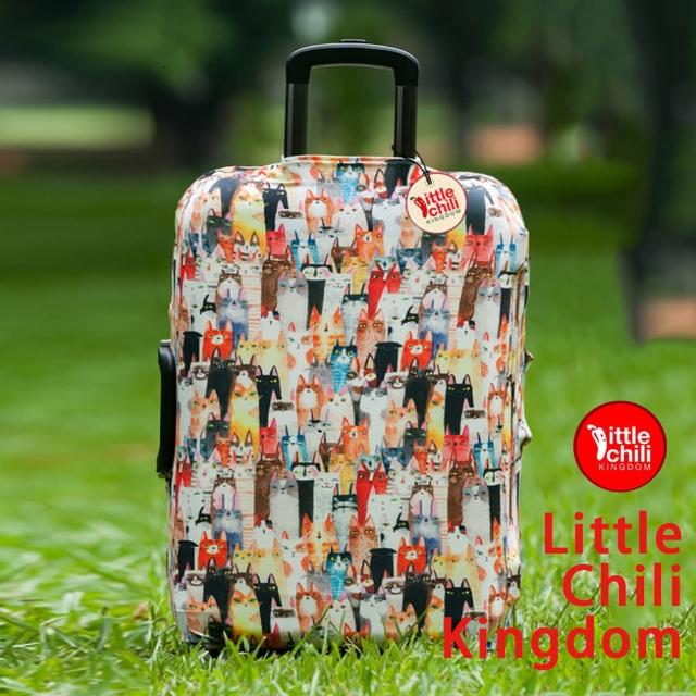 【開箱心得分享】MOMO購物網【LittleChili】行李箱套套508(貓咪S)價格momo電視購物客服電話