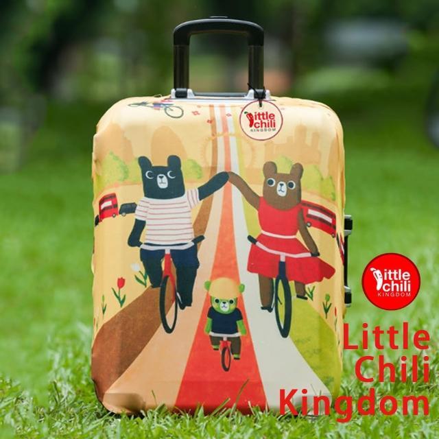 【勸敗】MOMO購物網【LittleChili】行李箱套套503(小熊家族M)效果折價券 momo