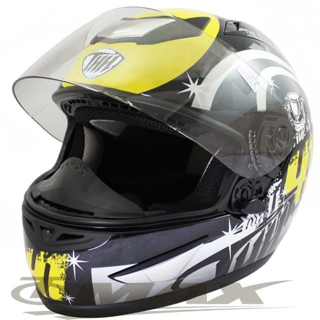 【好物推薦】MOMO購物網冠軍之路可掀式全罩安全帽TS41A黑黃+新一代免洗安全帽內襯套6入(12H)好嗎富邦momo購物台網站