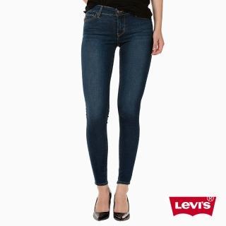 【Levis】710 超緊身丹寧牛仔褲-深藍
