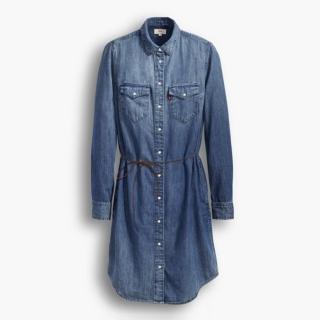 【Levis】長袖水洗牛仔洋裝 / 延續款