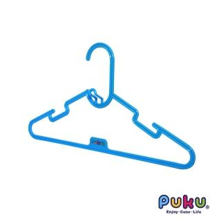 【PUKU藍色企鵝】彩虹糖衣架-6入(水色)