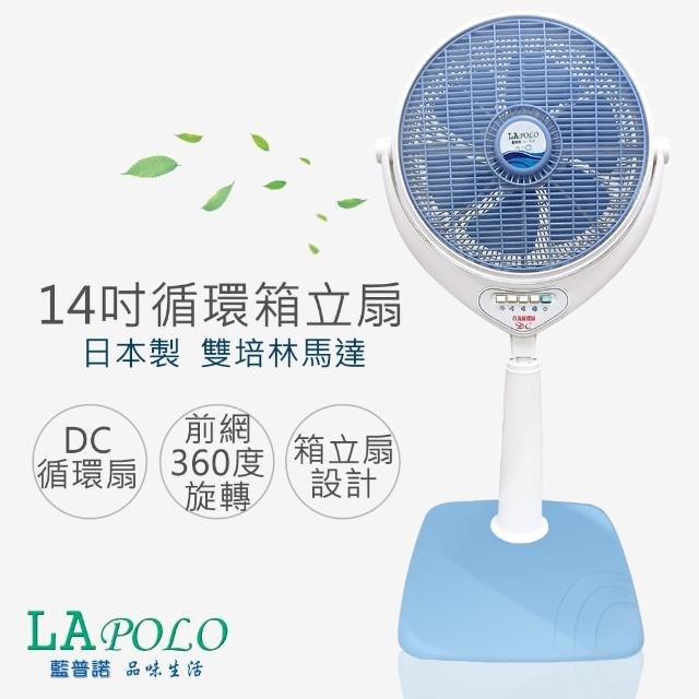 【藍普諾】14吋DC直流冷風循環箱立扇(FR-148m0m0電視購物9DC)