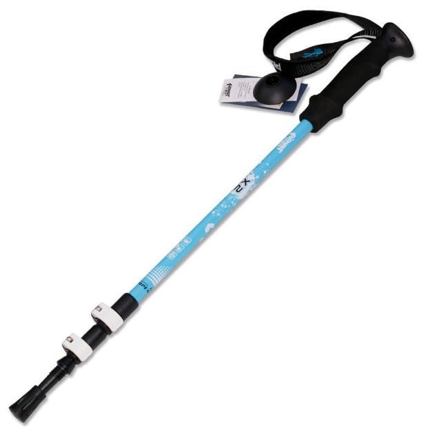 【網購】MOMO購物網【PUSH! 戶外休閒登山用品】加厚管壁杖航空鋁合金鎢鋼杖尖三節調整式登山杖 一入(P68)開箱富邦媒體科技