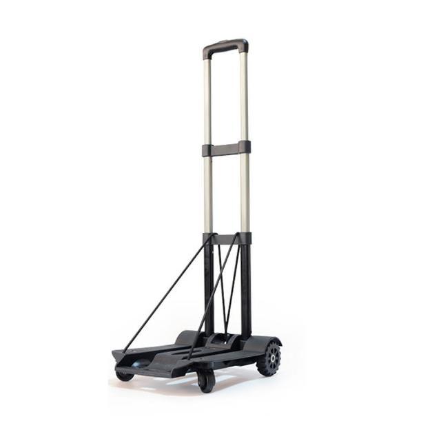 【好物推薦】MOMO購物網【PUSH!】旅遊用品 行李車拉桿車手拉車折疊購物車(負重版)價錢富邦momo購物