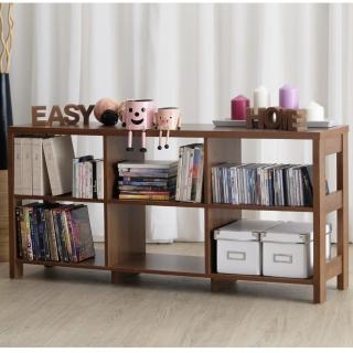【EASY HOME】二層六格隔間展示收納櫃(美禪白)