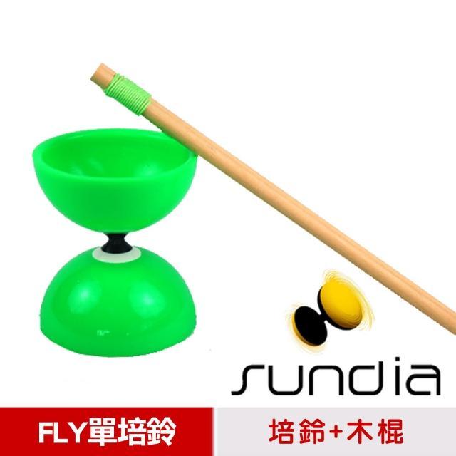 【三鈴SUNDmomo購物 假貨IA】台灣製造FLY長軸培鈴扯鈴-附木棍、扯鈴專用繩(綠色)