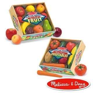 【美國瑪莉莎 Melissa & Doug】玩食趣(好吃水果組+健康蔬菜組)