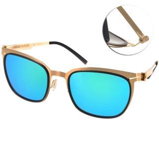 【VYCOZ 太陽眼鏡】薄鋼工藝 水銀鏡面偏光款(黑-金#BUNKER GOLBGD)