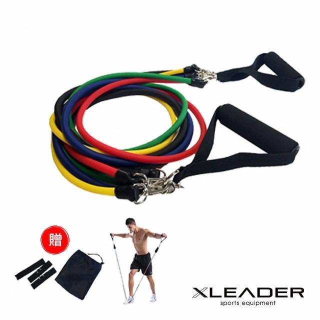 【網購】MOMO購物網【Leader X】可拆卸高彈力彩虹訓練拉力繩 彈力繩好嗎momo購物車