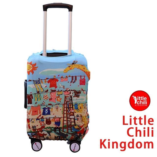 【好物分享】MOMO購物網【LittleChili】行李箱套512(歡樂動物S)哪裡買momo 2台