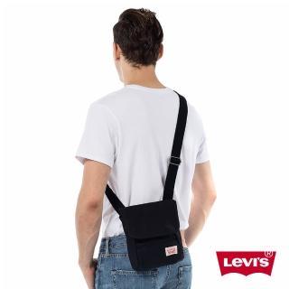 【Levis】男款黑色素面斜背包