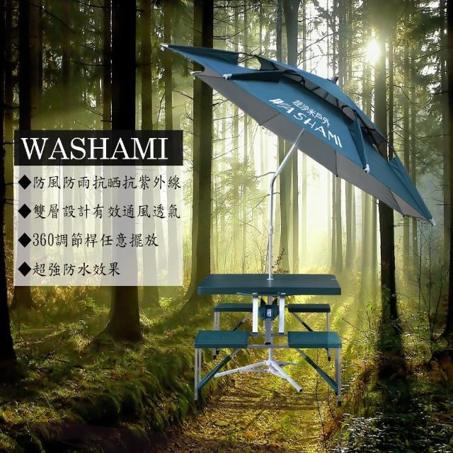 【部落客推薦】MOMO購物網【WASHAMl】萬向衛星傘雙層透氣(傘面2.2M)推薦momo網路