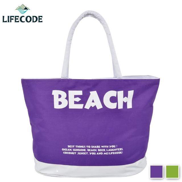 【真心勸敗】MOMO購物網【LIFECODE】BEACH 防水大沙灘袋/購物袋/健身袋-(2色可選)好用嗎momo電話訂購