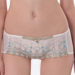 【LADY】舞夜巴黎系列 低腰平口褲(月光白)