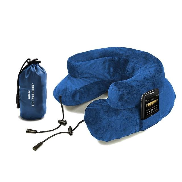 【真心勸敗】MOMO購物網【CABEAU】專利進化護頸充氣枕 藍色去哪買momo的電話