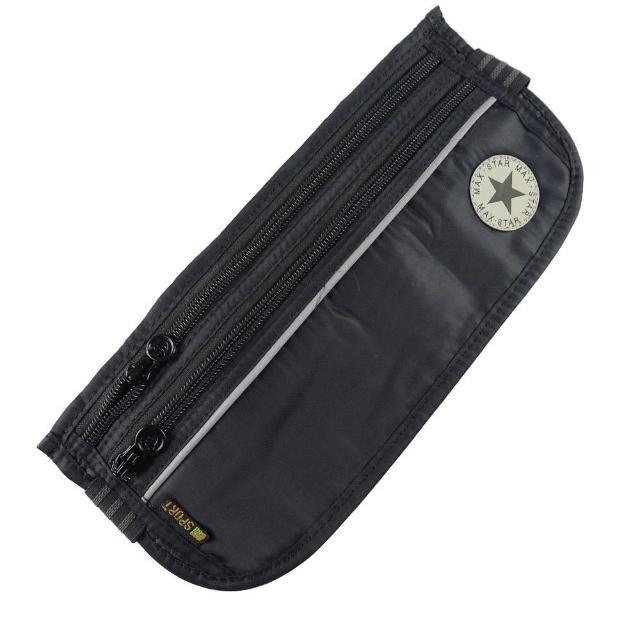【網購】MOMO購物網【PUSH!嚴選】3艙室6夾層 防搶包 防盜腰包 護照包 隱形貼身腰包(STAR)開箱momo購買