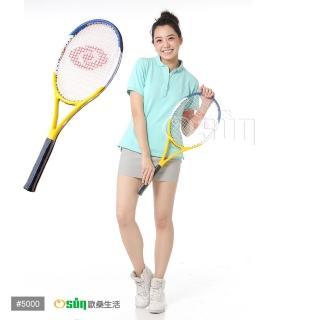 【Osun】FS-T5000C碳纖維網球拍(藍白黃CE-185)