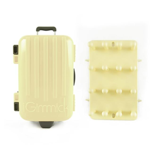 【好物分享】MOMO購物網【iGimmick】3C線材收納盒- 米白行李箱效果好嗎富邦購物電話
