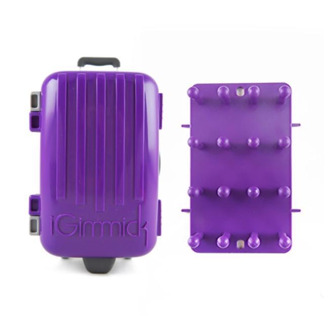 【真心勸敗】MOMO購物網【iGimmick】3C線材收納盒- 紫色行李箱開箱momo東森