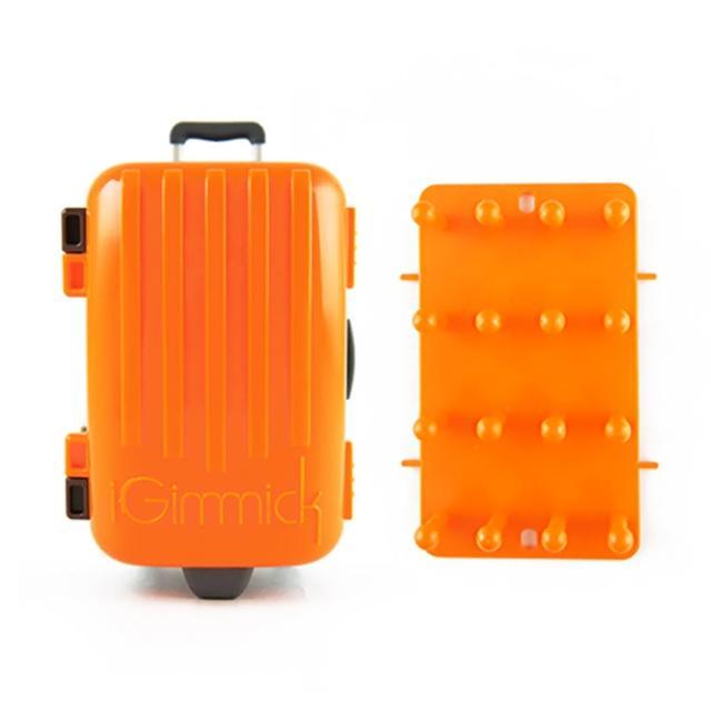 【勸敗】MOMO購物網【iGimmick】3C線材收納盒- 橘色行李箱推薦momo首頁