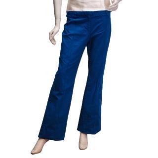 【BALENCIAGA】都會中性寬版素面長褲(寶藍-40 253207-4850)