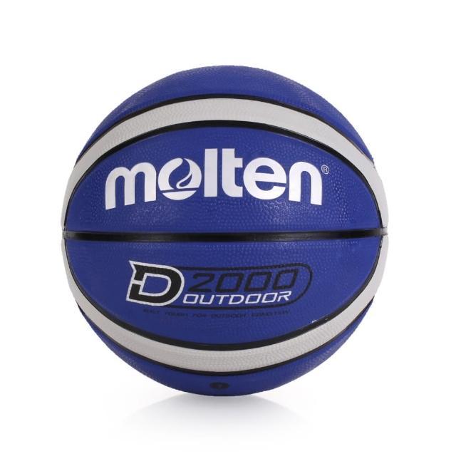 【開箱心得分享】MOMO購物網【MOLTEN】12片橡膠深溝籃球 -七號球(藍灰)效果momo活動